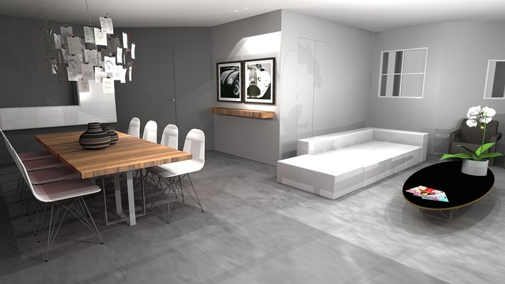 Salon contemporain c design architecture d 39 int rieur et for Photos de salon